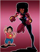 Garnet and Steven Universe by NinjaSpidey