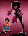 Garnet and Steven Universe