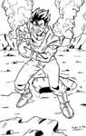 Mystic Gohan lineart by NinjaSpidey