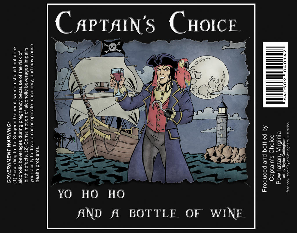 Pirate Wine Bottle