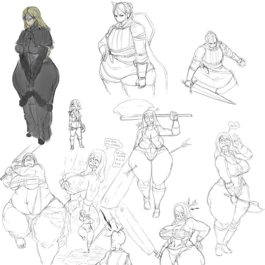 Dark Souls Doodles by OverlordZeon