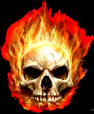 Skull in fire by roosterteethfan on deviantart skull in fire by roosterteethfan voltagebd Choice Image