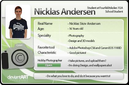 My New DeviantART ID - 2013 by NicklasAndersen