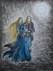 under the moon by wildelbenreiter