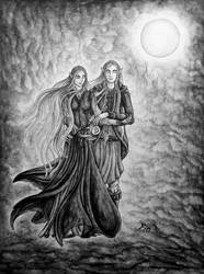 under the moon (black version) by wildelbenreiter