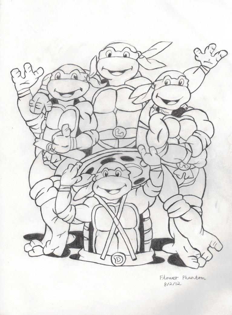 Ninja Turtles Halloween Coloring Pages