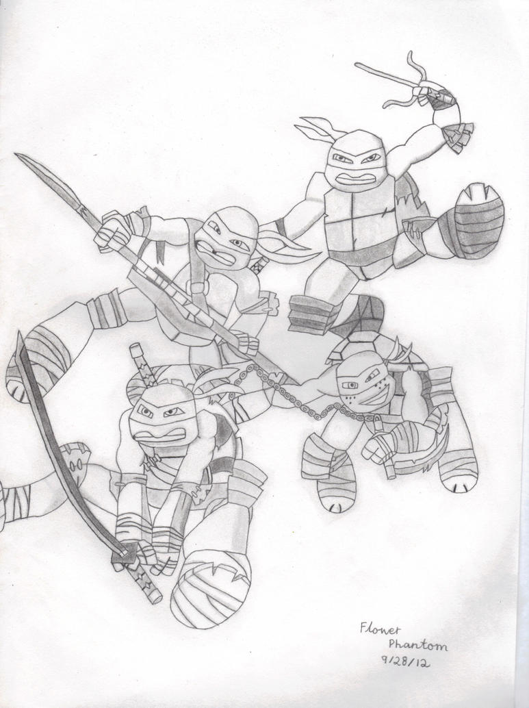 2012 teenage mutant ninja turtles by flowerphantom on for Teenage mutant ninja coloring pages