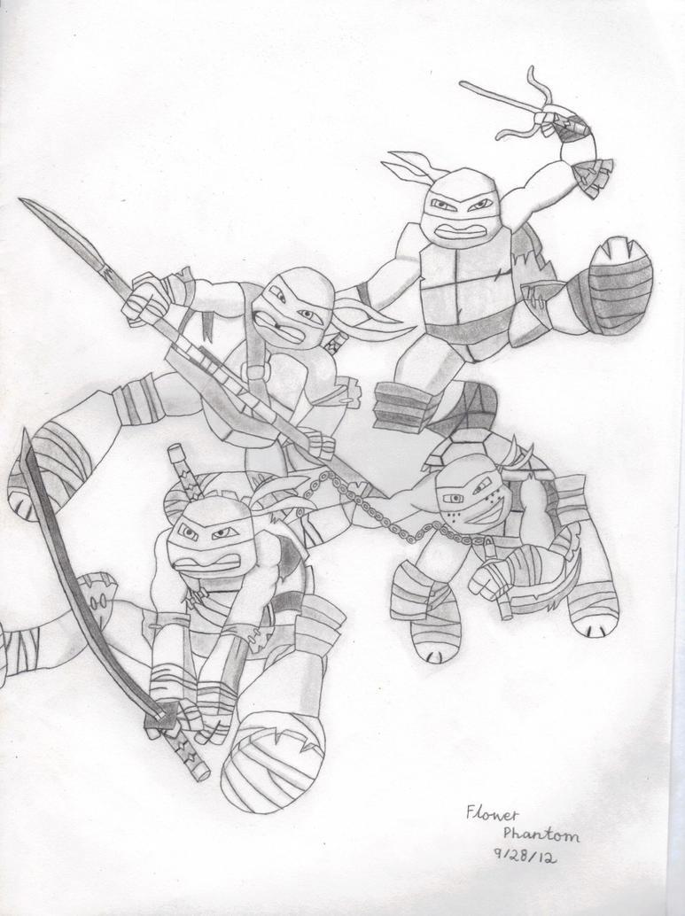 2012 teenage mutant ninja turtles by flowerphantom on for Teenage mutant ninja coloring pages