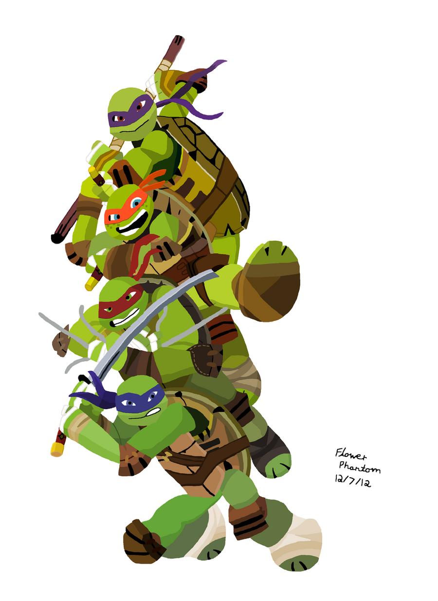 2012::: Teenage Mutant Ninja Turtles Colored by FlowerPhantom