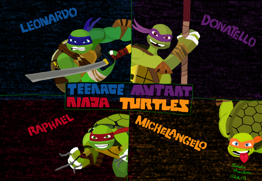 2012 teenage mutant ninja turtles bg colored by flowerphantom on