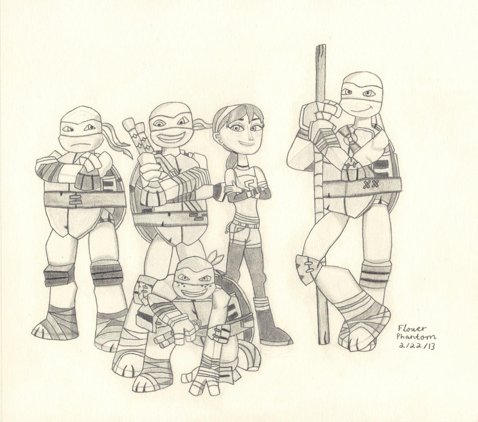 Attractive Teenage Mutant Ninja Turtle Group Coloring Pages ...