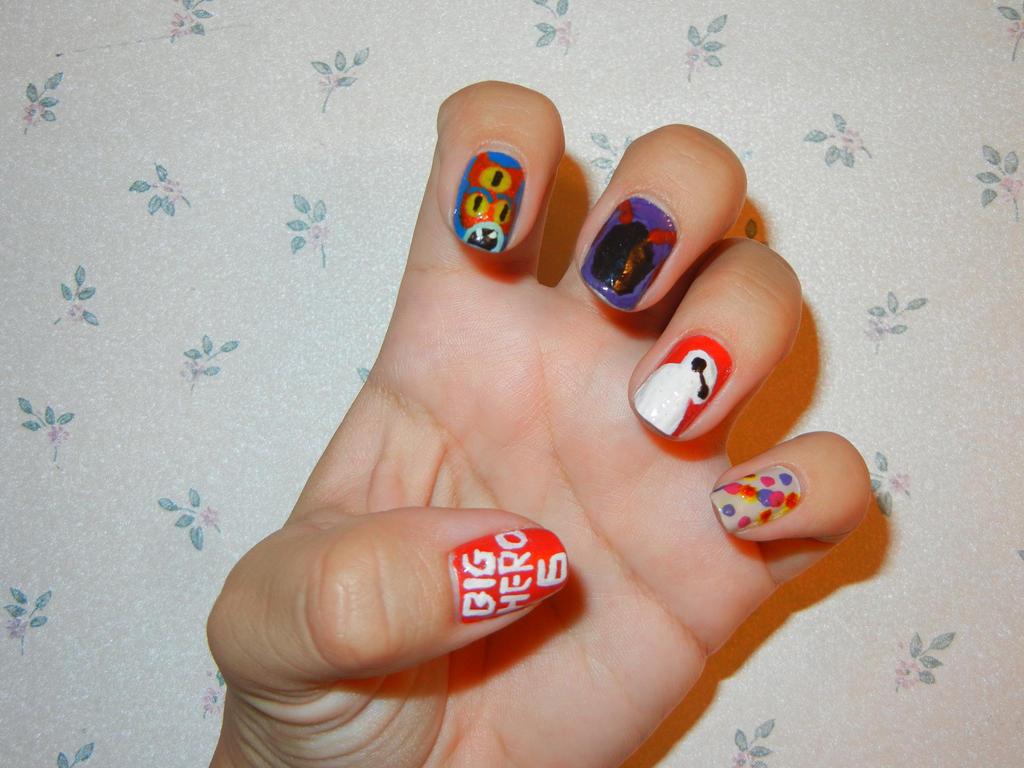 Big hero 6 nail art left hand by flowerphantom on deviantart big hero 6 nail art left hand by flowerphantom prinsesfo Image collections