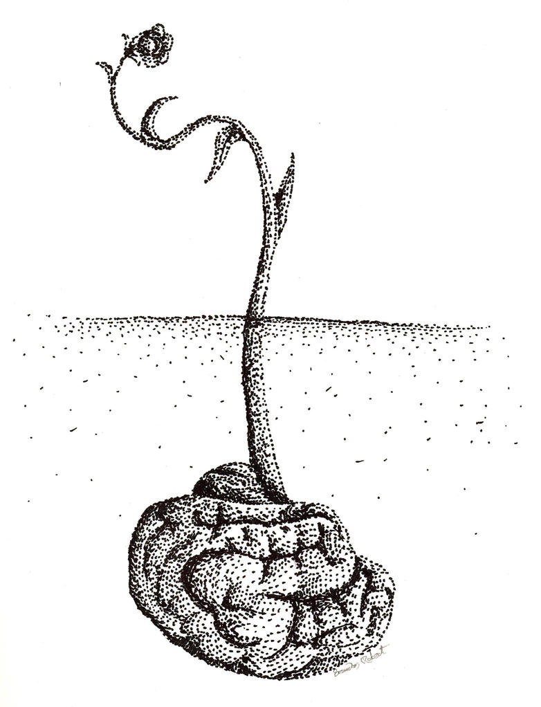 Buried Brain by astomious