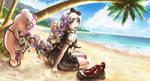 Natalie Monophanie Beach by ProjectCubixDuc