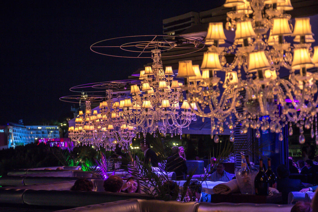 Chandelier in restaurant evening by coldik on deviantart chandelier in restaurant evening by coldik arubaitofo Gallery