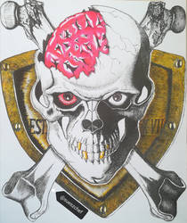 Skull art inspired by Miura