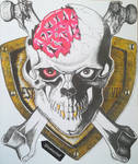 Skull art inspired by Miura by Chefsuesz