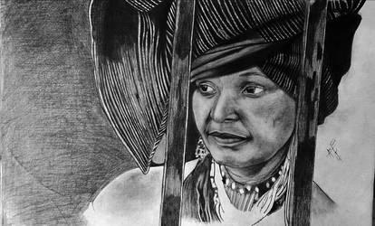 A portrait of Winnie Madikizela Mandela