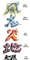 Tattoo Design-Five Elements