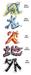 Tattoo Design-Five Elements by KinjouTen