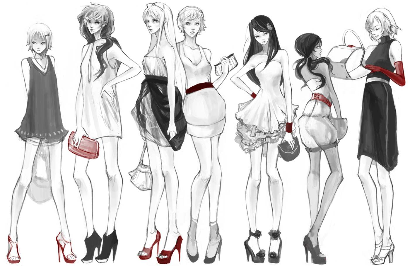 red and heels by hakuku