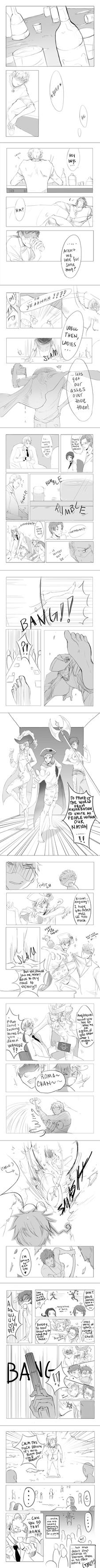 APH doujin: bad drunk trio by hakuku