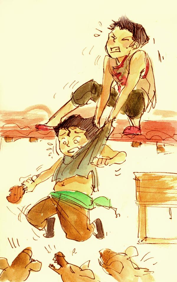 Korra: Bro love by hakuku