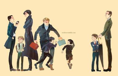 BBC Sherlock: Kids by hakuku
