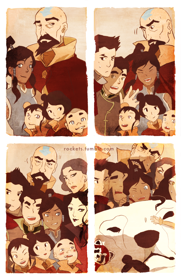 Korra: Group portrait by hakuku