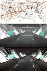 RWBY: Airship interior by hakuku