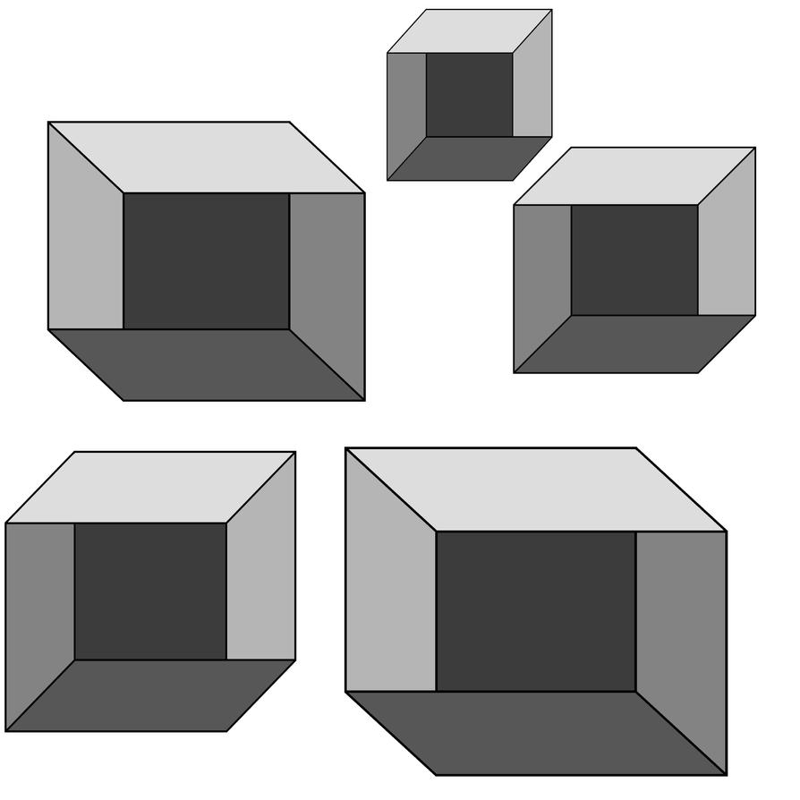 optical illusion boxes deviantart