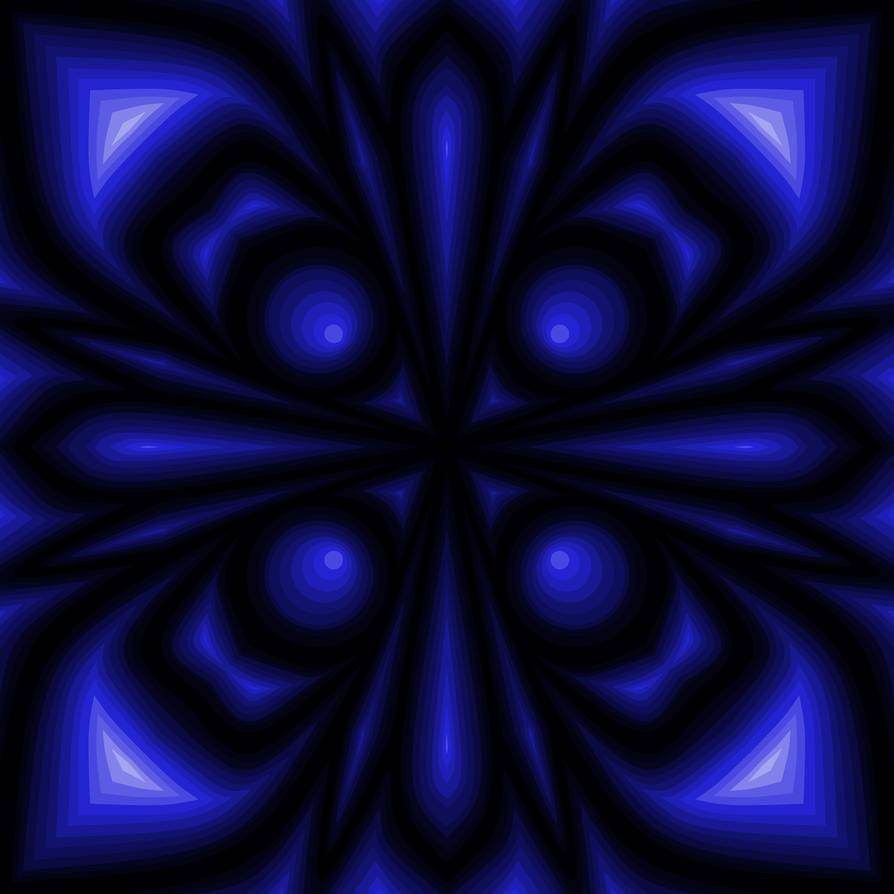 Vivid Blue Mspaint Flower by rayna23