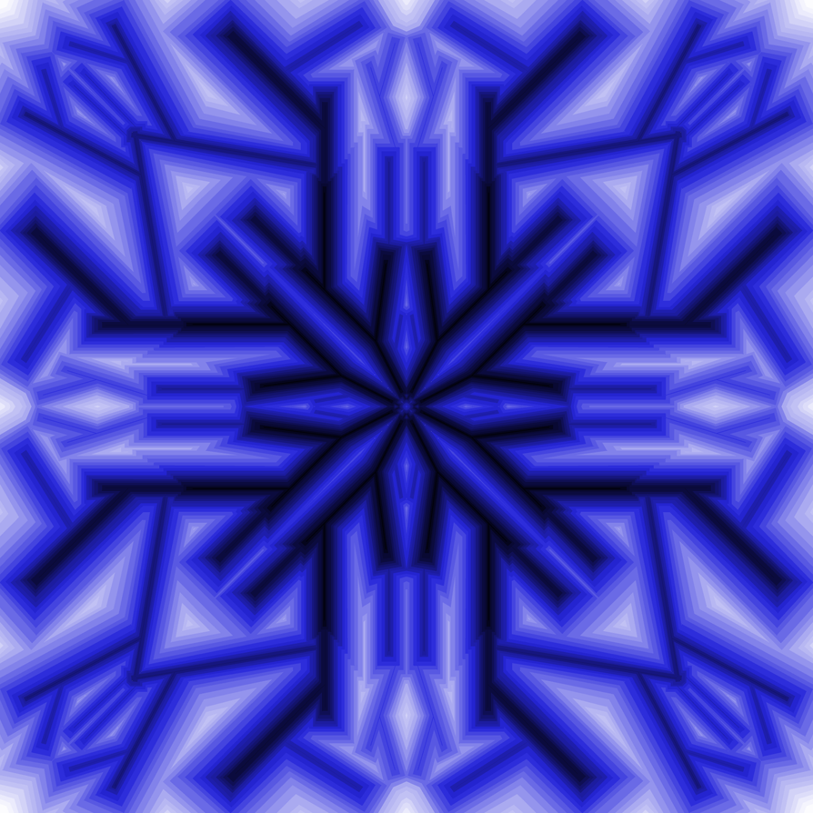 Mspaint Blue Snowflake by rayna23