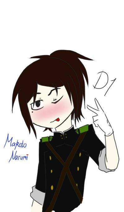 Emoji Dare: Makoto Narumi by HetaliaFan0019