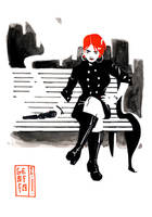 Commission Woman with red hair by Geoffo-B