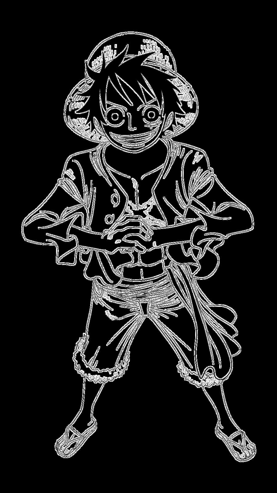 One Piece Lineart : One piece lineart by xxriddickxx on deviantart