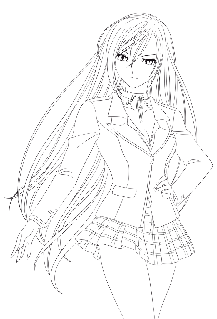 rosario pages mizore vampire coloring coloring pages