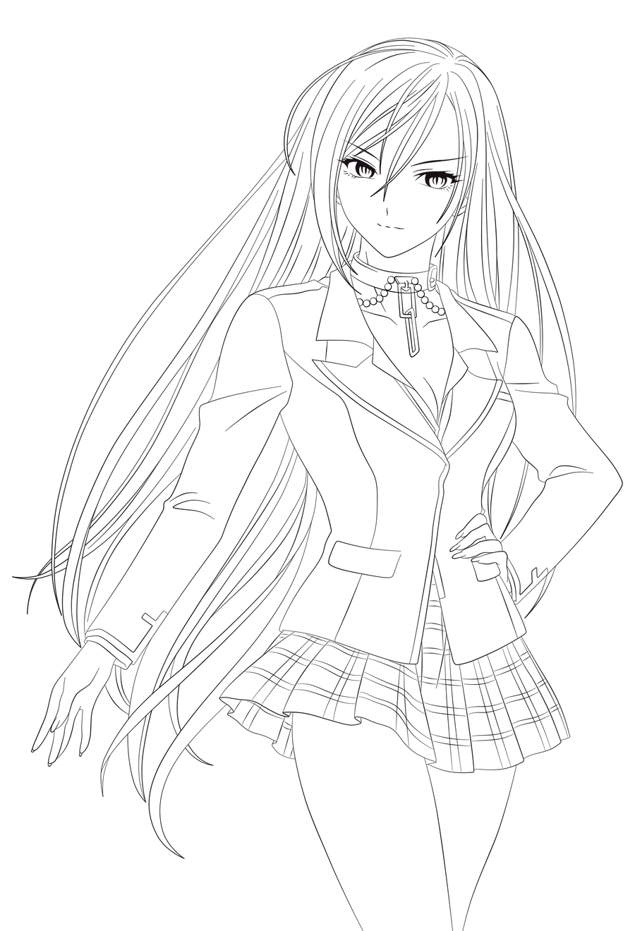 vampire anime coloring pages - photo#12