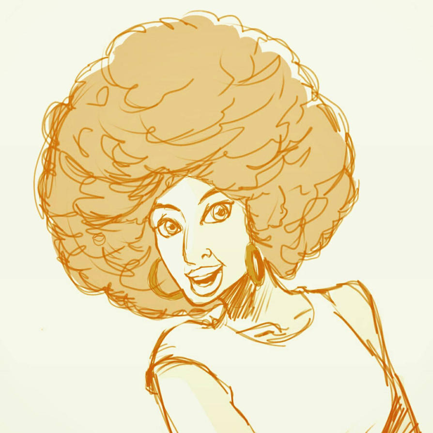 Fro lady  by VizmaticJeff