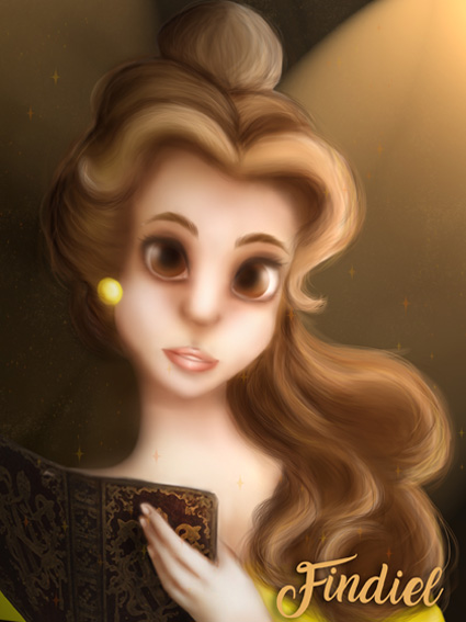 Belle from Beauty and the Beast by Findiel