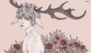 antler boy by eledona