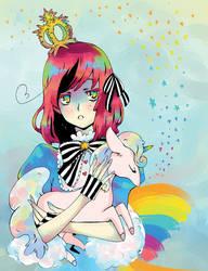 Rainbow Princess nd Unicorn by Jumpix