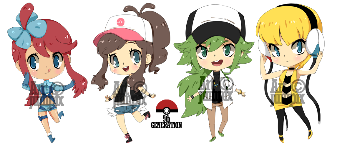 chibis : Pokemon 5th gen by Jumpix
