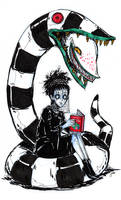 Lydia Deetz and Worm