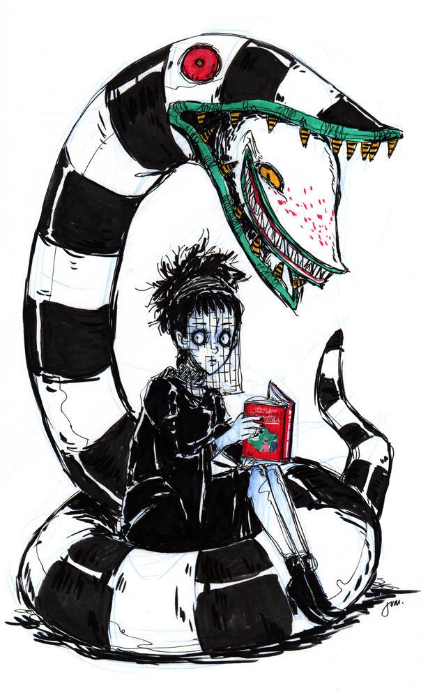 Lydia Deetz And Worm By Jumpix On Deviantart