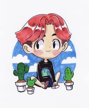 BaekHyun and Cactus