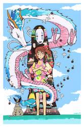 Sen To Chihiro - Friends by Jumpix