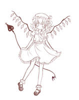 Flandre Scarlet sketch by criis-chan