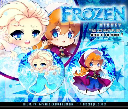 Frozen- Button set by criis-chan