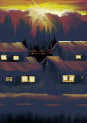 Sunset Suburb by rustedsoda
